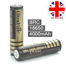 2 x PCB Protected BRC 18650 Rechargeable Li-ion Battery 4000mAh 3.7V Lithium UK