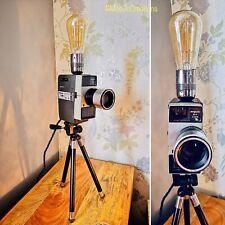 Vintage Argus M-4 Cine Camera Lamp, Table Lamp, Desk Lamp, Repurposed