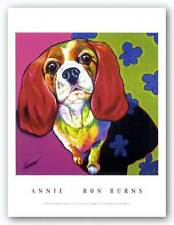 DOG ART PRINT Annie by Ron Burns