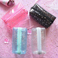 Clear PVC Travel Cosmetic Makeup Toiletry Wash Star Bag Pouch Zipper Bag L