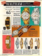 1960 ADVERT 6 PG Waltham Watch Premier 65 Jewel Self Winding Skindiver