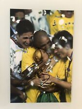 Roberto Carlos Signed Brazil Photo PROOF