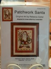 Counted Cross Stitch Pattern  - PATCHWORK SANTA  - by Rebecca Carter New