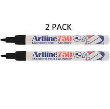 Artline Laundry Pen Permanent Marker Black Linen Clothing Machine Proof