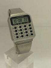 Micronta Alarm Calculator Digital LCD Quartz  Collectible Watch