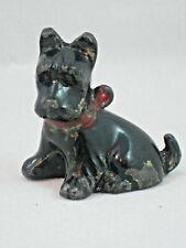 "Vintage Lead Cast Scottie Scottish Terrier Dog Figurine Japan 1.75"" (44mm) Tall"