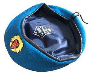 USSR Soviet Style Russian Army Uniform Blue VDV Paratrooper Beret Cap Hat Badge