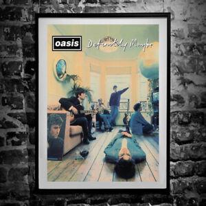 "Oasis ""Definitely Maybe"" Album Poster - Wall Art Print"