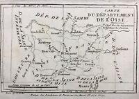 Oise en 1790 Creil Noyon Gisors Pontoise Crespy Senlis Beaumont Gerberoy