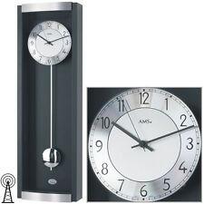 AMS 5285/11 Wanduhr Uhr UVP 230,- €  Funkuhr Pendeluhr Design NEU  schwarz