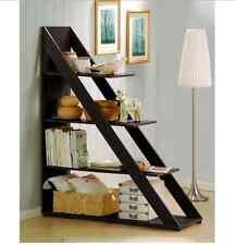 Book Shelf Room Divider with Shelves Espresso Shelving Unit Storage Bookcase