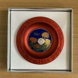 1964 Tokyo Olympics Cloisonne dish SIPPOUYAKI official rare with box