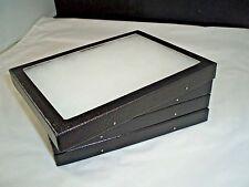 "seven jewelry display case riker mount display box usa made polyfoam 12"" X 16"""