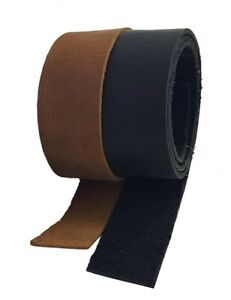 Leather Strips & Straps Black & Brown 1 metre lengths 25 mm wide