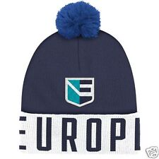 Team Europe Adidas 2016 World Cup of Hockey Pom Beanie - NEW