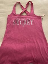 VICTORIAS SECRET WOMENS TANK TOP PINK PRINTED STRETCHY NIGHT DAY SZ S NWT