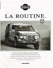 Publicité Advertising 1992 Nissan Terrano 1ère