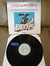 "LAS PELICULAS DE OTTO PREMINGER SOUNDTRACK LP VINYL 12"" 1987 VG+/VG+ SPANISH ED"