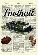 Football Dictionary Art Poster Picture Footballs Stadium Gift Present Sports
