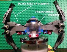 Custom Lego Star Wars Tie Fast Attack Interceptor with Pilot!