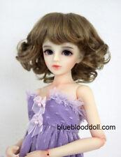 """1/6 bjd 6-7"""" doll head copper brown short wig YOSD Luts Iplehouse Lati W-JD164S"""