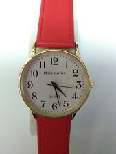 Philip Mercier, Batt, Analogue, red strap, white face, X Large Watch - New