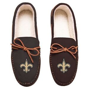 NFL New Orleans Saints Men's Colored Moccasin Hard Slippers-New