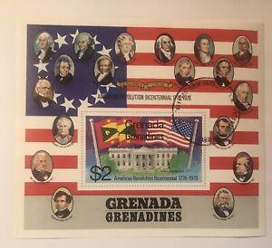 GRENADA GERNADINES , USA , 1976 , US BICENTENNIAL 2 $2 Sheets And 8 Singles Cxld