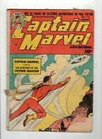 Captain Marvel Adventures #116 Fr 1.0 Off White Pages Flying Saucer Issue