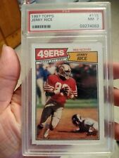 1987 Topps Jerry Rice #115 PSA 7 2nd Year Card