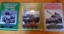 Polnische Bücher über Panzer Panzerwaffe & niemieckie Samochody pancerne 1921-1945 1 & 2