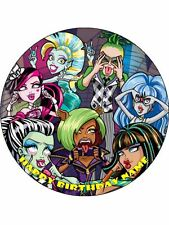Monster High 19cm Edible Icing Image Birthday Party Cake Topper Decoration #3