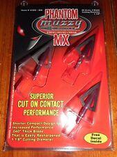 Muzzy Phantom MX 2-Blade 85 Grain Fixed Broadheads - 3 Pack