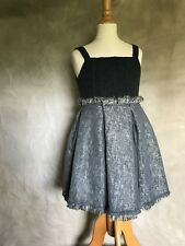 I Pinco Pallino Gray WOOL MESH NET Overlay PARTY DRESS Girls 6 Fitted Bodice