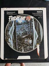 Friday The 13th RCA SelectaVision VideoDisc CED
