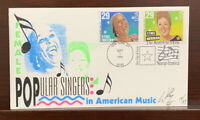 1994 SIGNED US COVER FEMALE POPULAR SINGERS NUMBERED 12/33, STAMP FESTIVAL