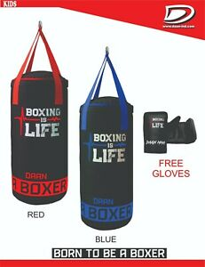 DAAN MMA Kids Punching Bag Set with Free Boxing Gloves Training - 50cm UNFILLED