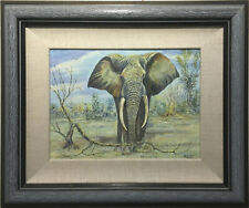"""""""Elephant"""" by Harold Phirí Original Oil Painting"""