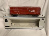 ✅WEAVER CROWN 3-RAIL SWIFT WOOD SIDE REEFER CAR W/ LIONEL TYPE COUPLERS! O SCALE