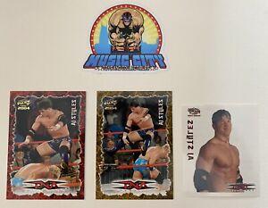 AJ Styles 2004 Pacific TNA Impact Wrestling 3 Card Rookie Lot w/ Sticker WWE PSA