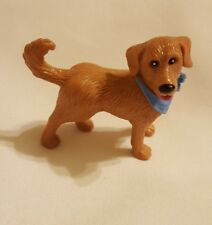 Cutest brown dog Figurine Toy Figure Hard Plastic Unbranded cake topper used