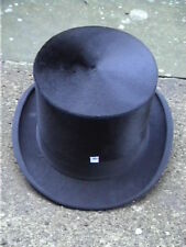 Antique Burton Black Silk Top Hat Sz 7¼ ..