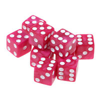10Pcs 16mm/0.63inch D6 Dice Acrylic Six Sided Spotted for MTG DND TRPG Red