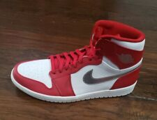 NIKE MENS AIR JORDAN RETRO 1 HIGH Size 13.5 332550 602 Gym Red NO LID