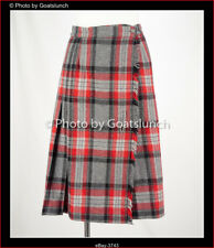 Sportscraft Red Tartan Check Wool Skirt Size 12 Vintage New Without Tags
