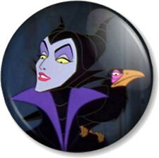 Maleficent 25mm Pin Button Badge Disney Witch Sleeping Beauty Queen Fairy Dragon