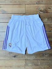 Real Madrid Football Men's adidas shorts Home White Purple Stripes size XL