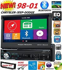 "98 99 00 01 CHRYSLER JEEP DODGE 7"" NAVIGATION CD DVD BLUETOOTH CAR RADIO STEREO"
