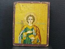 (eNB747) Old Russian Icon of Saint Panteleimon