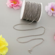 12m Roll Chain for Bracelet Dog Tag Jewellery Stainless Steel Cable Findings